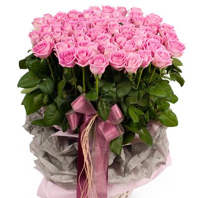분홍장미 100송이 바구니(예약상품.시세적용)